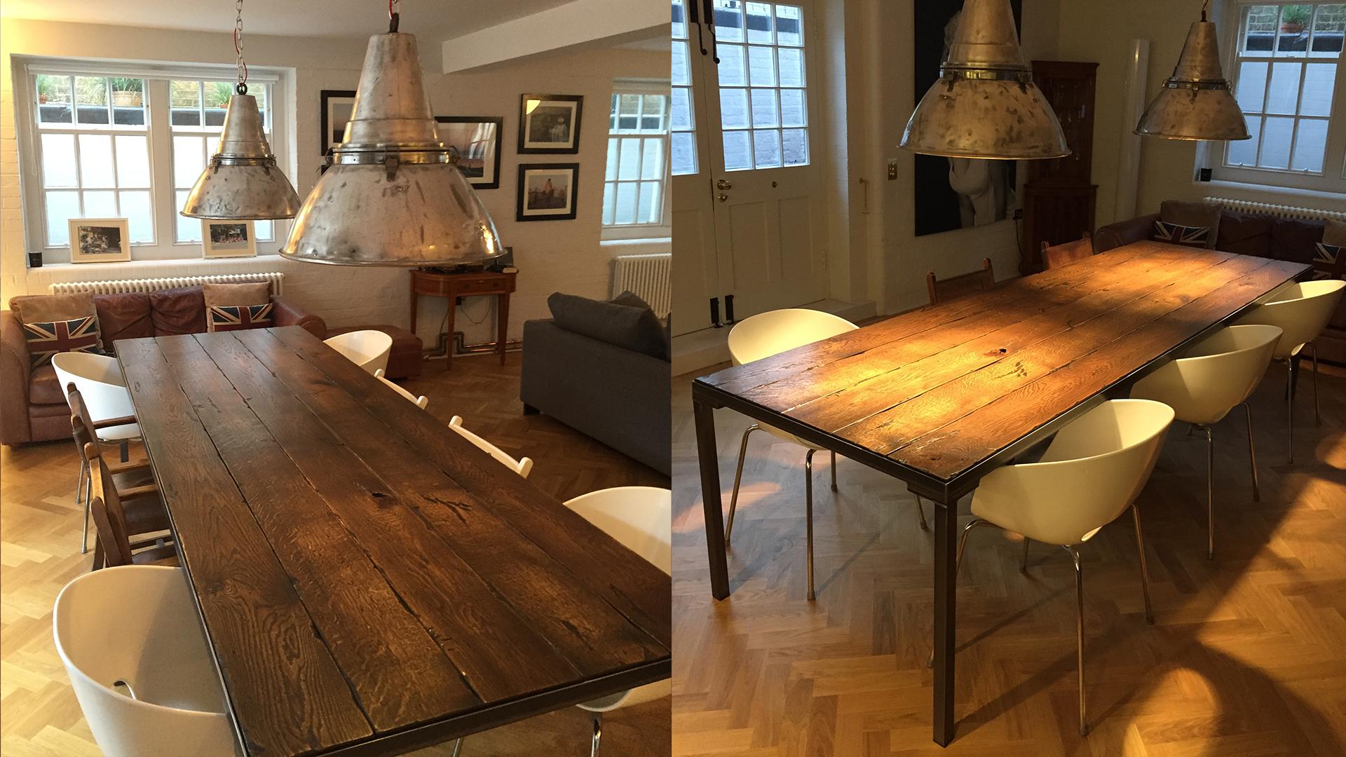 Steel Vintage Testimonial - Stuart Workshop Table